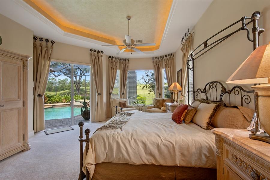 Real Estate Photography - 2955 Gardens Blvd, Naples, FL, 34105 - Master Bedroom