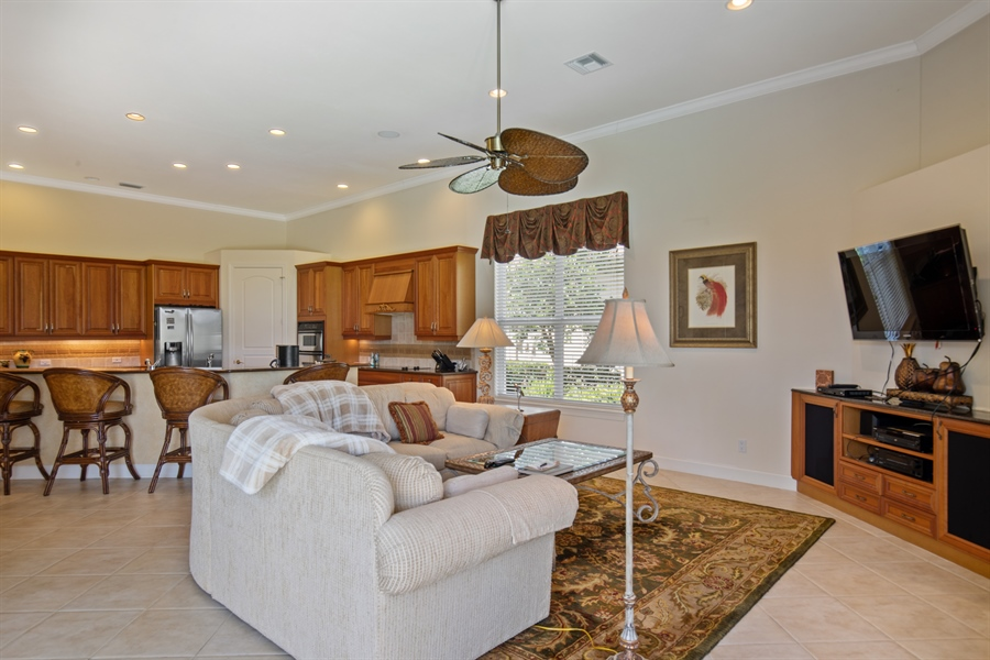 Real Estate Photography - 2955 Gardens Blvd, Naples, FL, 34105 - Great Room