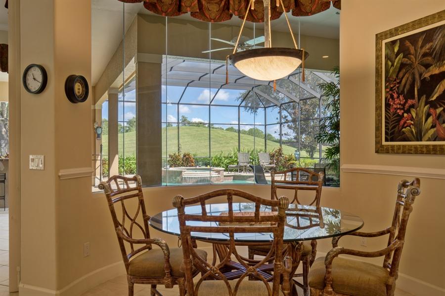 Real Estate Photography - 2955 Gardens Blvd, Naples, FL, 34105 - Breakfast Nook