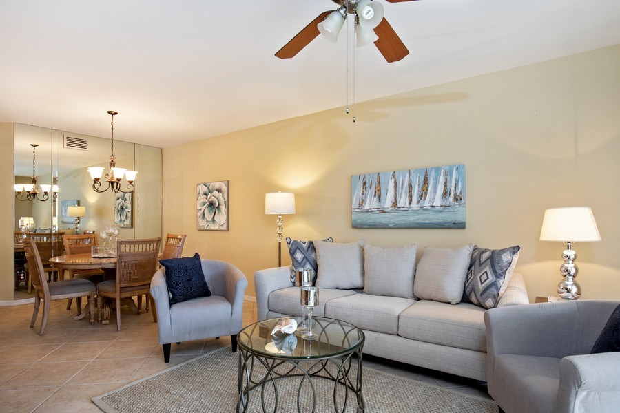 Real Estate Photography - 2506-104 Orchid Bay Drive, Naples, FL, 34109 - Living Room