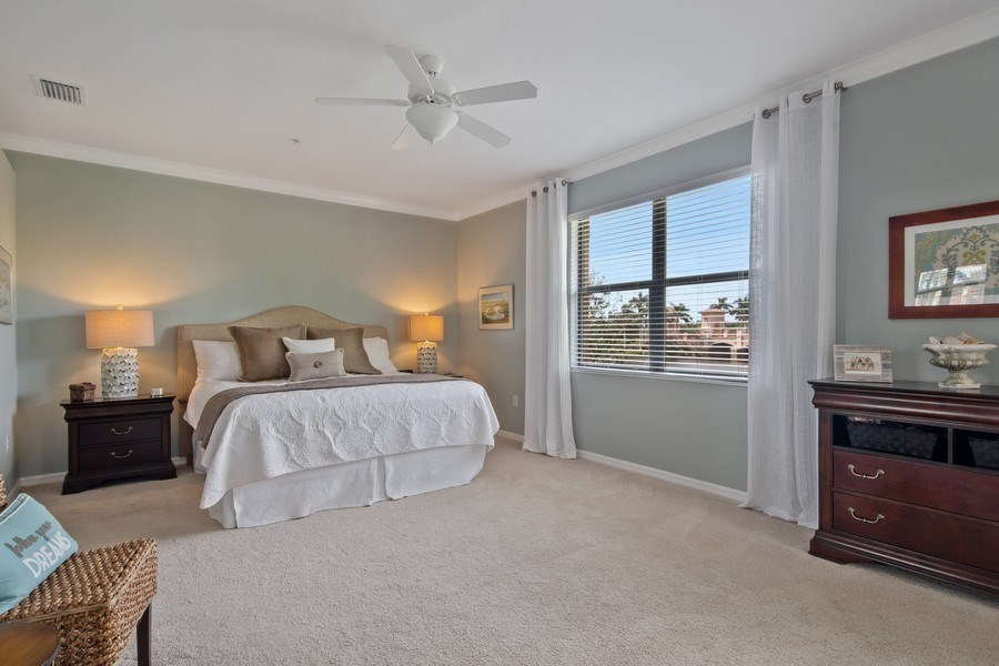Real Estate Photography - 9127 Nappoli Court, Unit 202, Naples, FL, 34113 - Master Bedroom