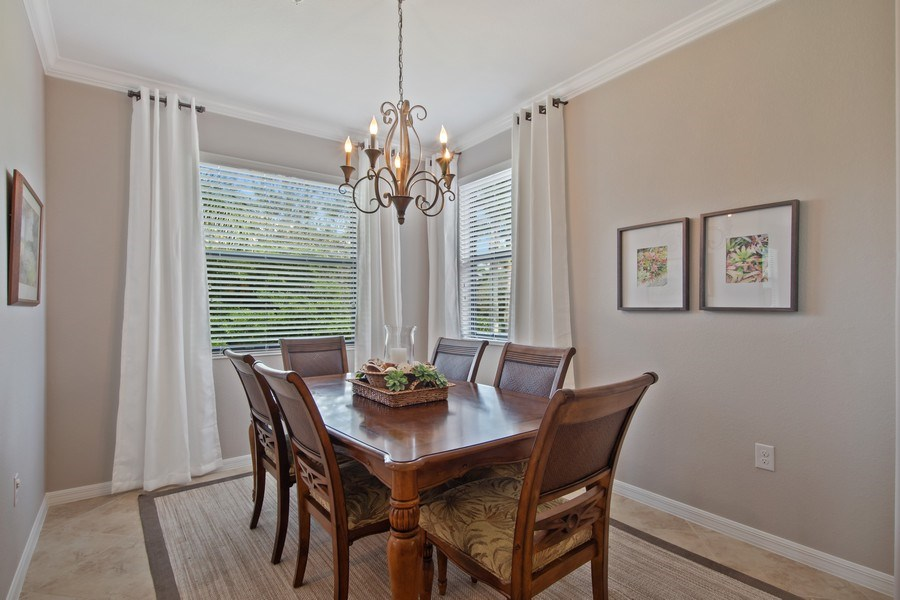 Real Estate Photography - 9127 Nappoli Court, Unit 202, Naples, FL, 34113 - Dining Room