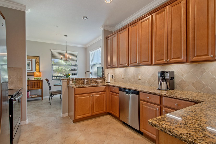 Real Estate Photography - 9127 Nappoli Court, Unit 202, Naples, FL, 34113 - Kitchen