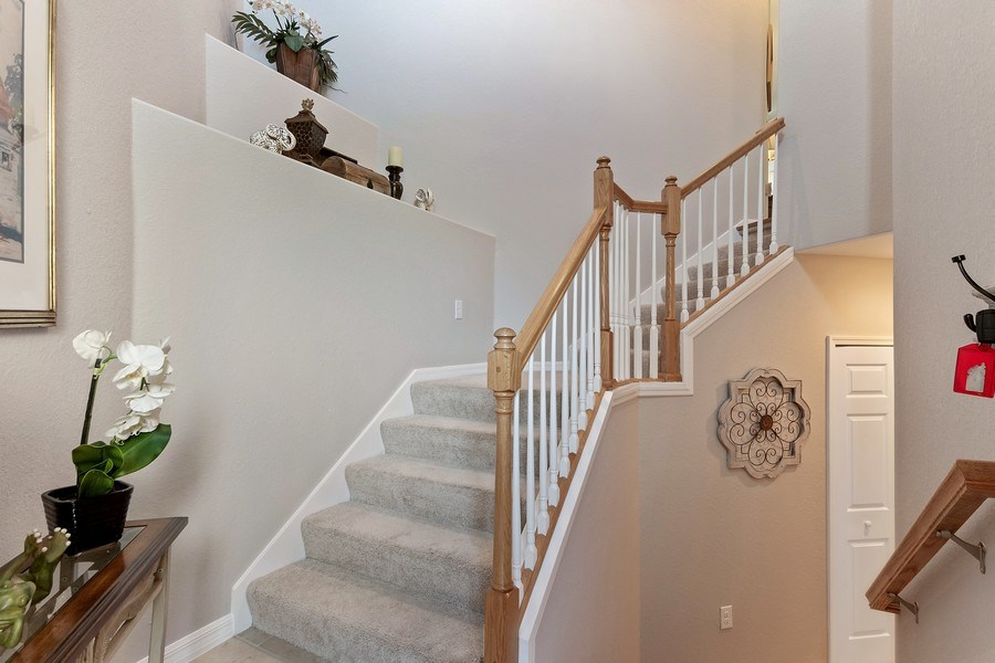 Real Estate Photography - 9127 Nappoli Court, Unit 202, Naples, FL, 34113 - Staircase