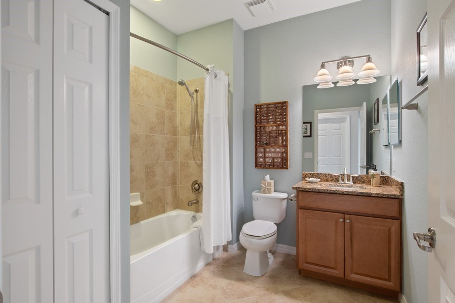 Real Estate Photography - 9127 Nappoli Court, Unit 202, Naples, FL, 34113 - Bathroom