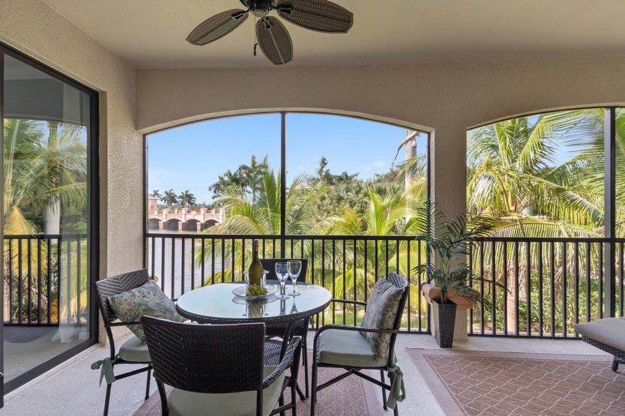 Real Estate Photography - 9127 Nappoli Court, Unit 202, Naples, FL, 34113 - Patio