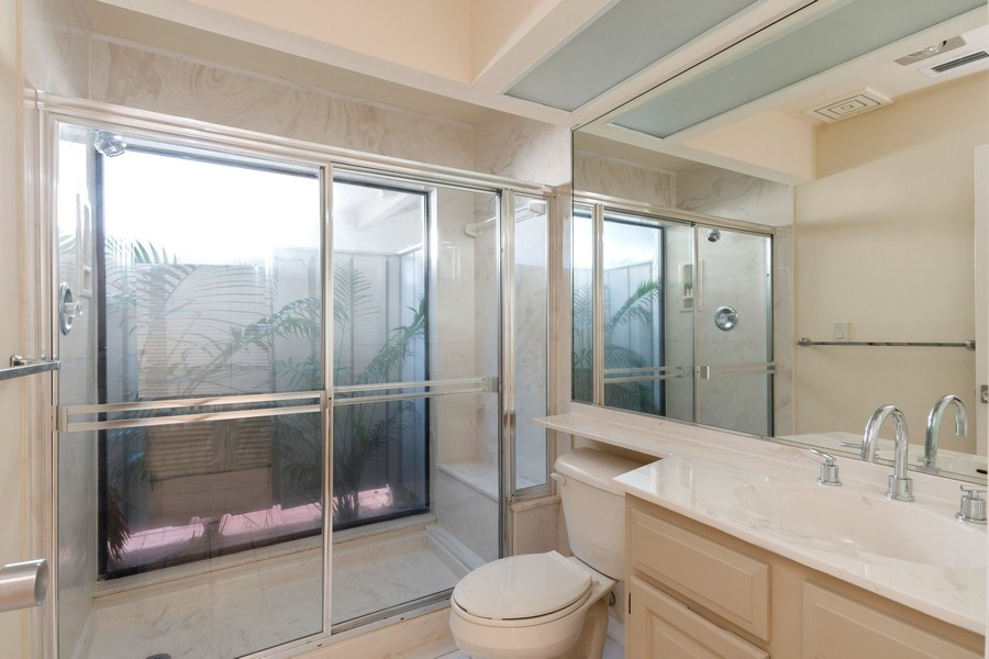 Real Estate Photography - 13242 Wedgefield Drive, Naples, FL, 34110 - Bathroom with Garden Shower