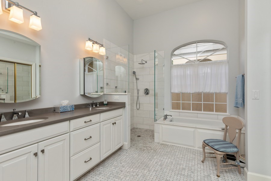 Real Estate Photography - 15283 Devon Green, Naples, FL, 34110 - Master Bathroom