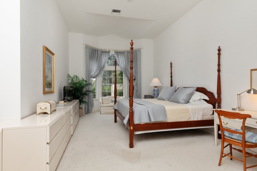 Real Estate Photography - 15283 Devon Green, Naples, FL, 34110 - Master Bedroom