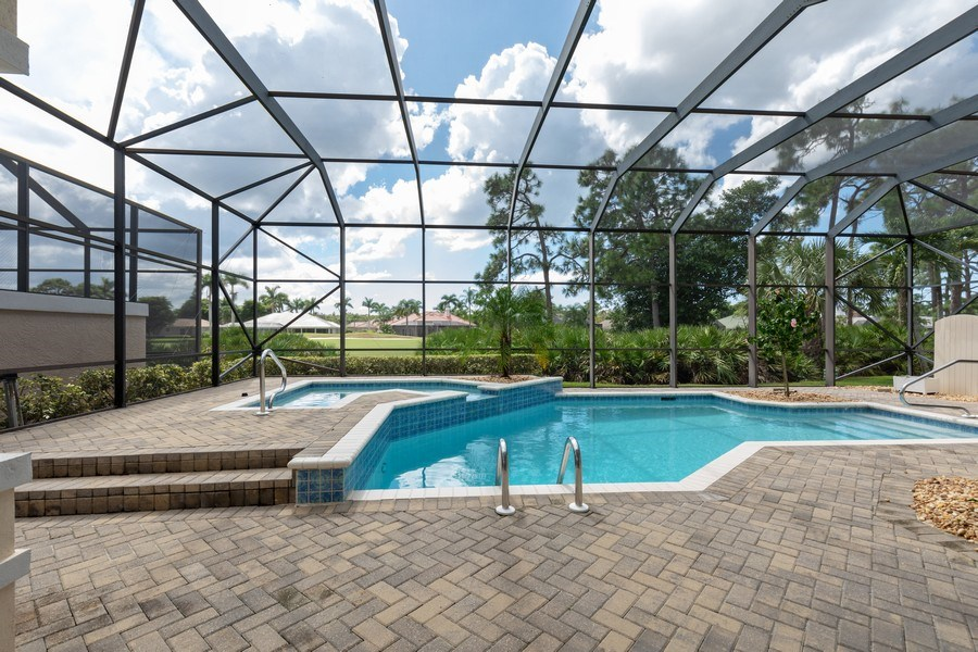 Real Estate Photography - 15283 Devon Green, Naples, FL, 34110 - Pool/Spa