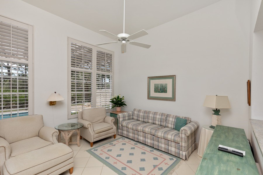 Real Estate Photography - 15283 Devon Green, Naples, FL, 34110 - Family Room