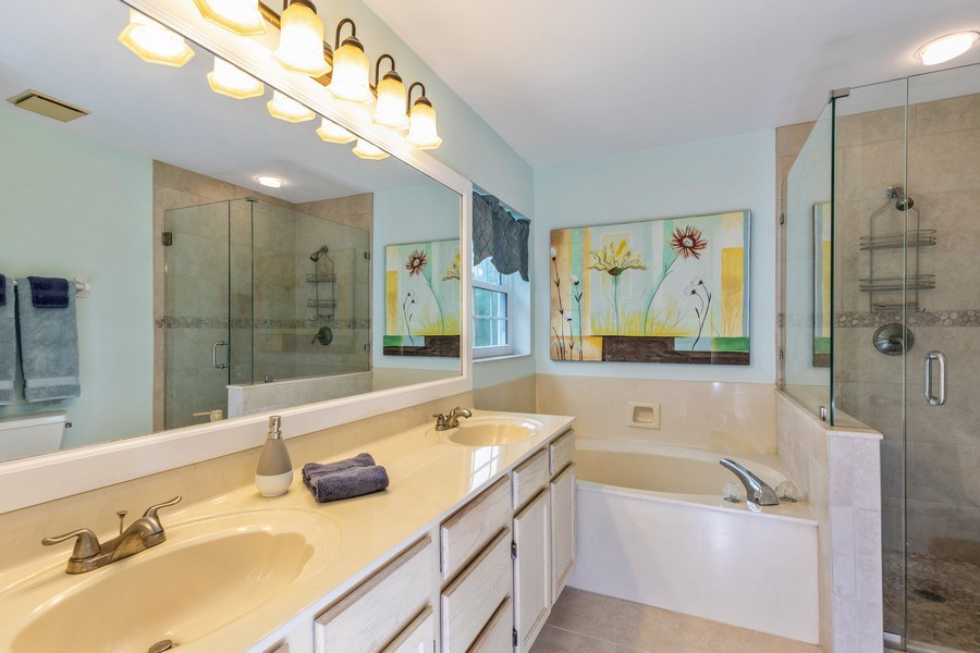 Real Estate Photography - 5895 Chanteclair, Unit 128, Naples, FL, 34108 - Master Bathroom