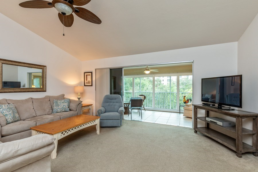 Real Estate Photography - 5895 Chanteclair, Unit 128, Naples, FL, 34108 - Living Room