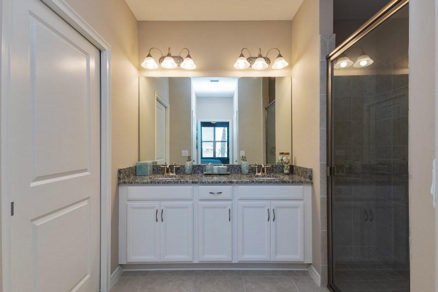 Real Estate Photography - 9433 Benvenuto Court, 102, Naples, FL, 34119 - Master Bathroom