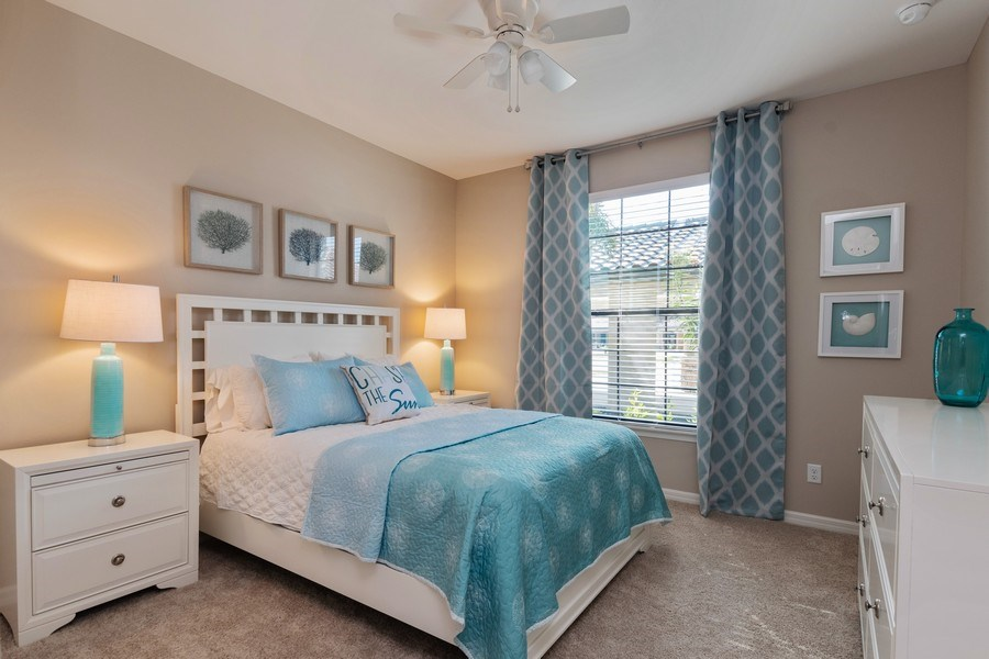Real Estate Photography - 9433 Benvenuto Court, 102, Naples, FL, 34119 - Guest Bedroom
