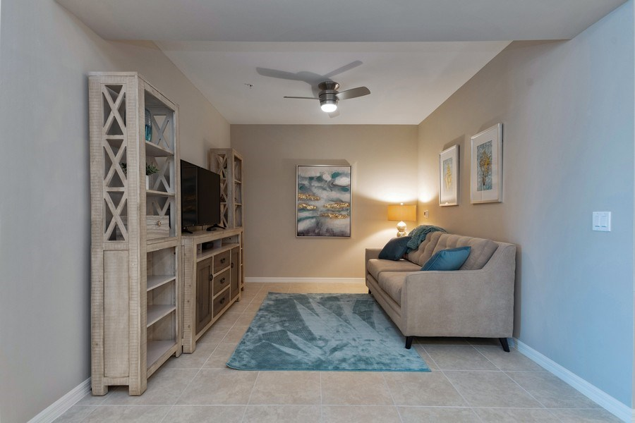 Real Estate Photography - 9433 Benvenuto Court, 102, Naples, FL, 34119 - Den