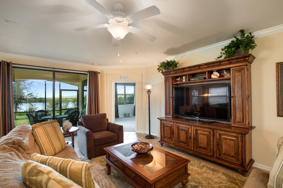 Real Estate Photography - 28040 COOKSTOWN CT 2801, BONITA SPRINGS, FL, 34135 - Living Room