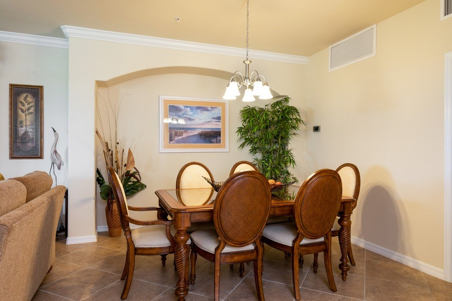 Real Estate Photography - 28040 COOKSTOWN CT 2801, BONITA SPRINGS, FL, 34135 - Dining Room