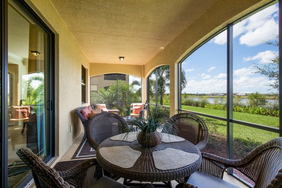 Real Estate Photography - 28040 COOKSTOWN CT 2801, BONITA SPRINGS, FL, 34135 - Lanai
