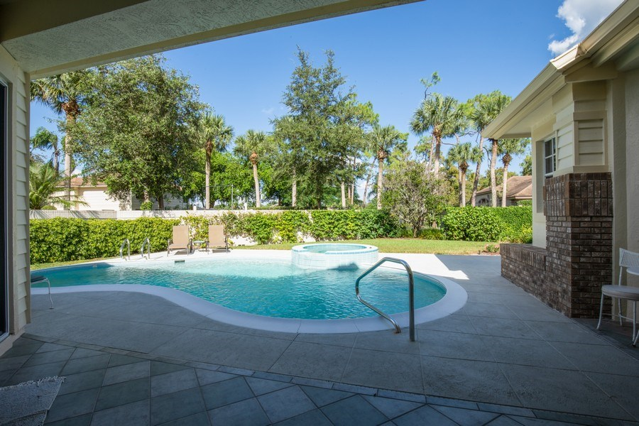 Real Estate Photography - 767 Glendevon Drive, Naples, FL, 34105 - Pool-backyard