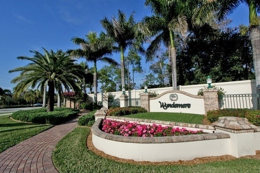 Real Estate Photography - 767 Glendevon Drive, Naples, FL, 34105 - Wyndemere Entrance
