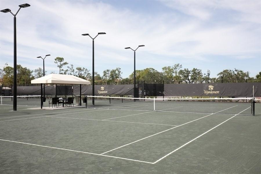 Real Estate Photography - 767 Glendevon Drive, Naples, FL, 34105 - 10 Court Tennis Complex