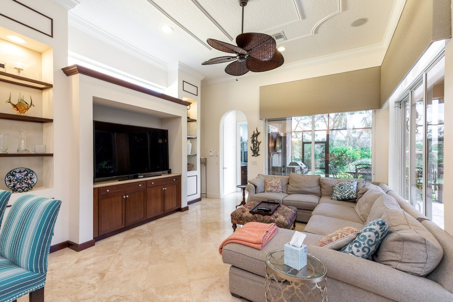 Real Estate Photography - 19871 Chapel Trace, Estero, FL, 33928 - Family Room