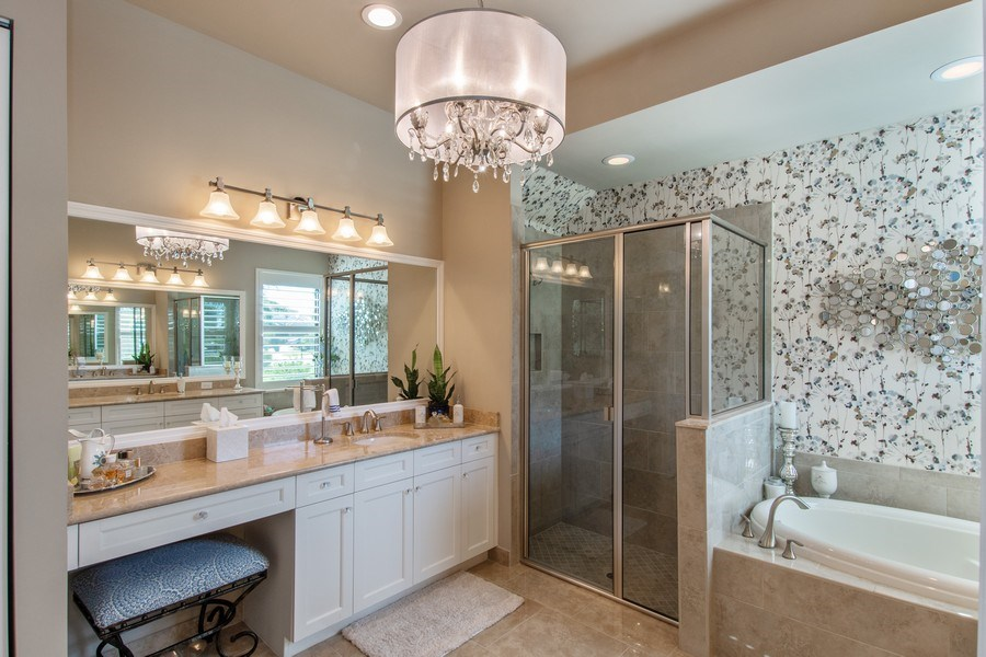 Real Estate Photography - 2767 Cinnamon Bay Circle, Naples, FL, 34119 - Master Bathroom