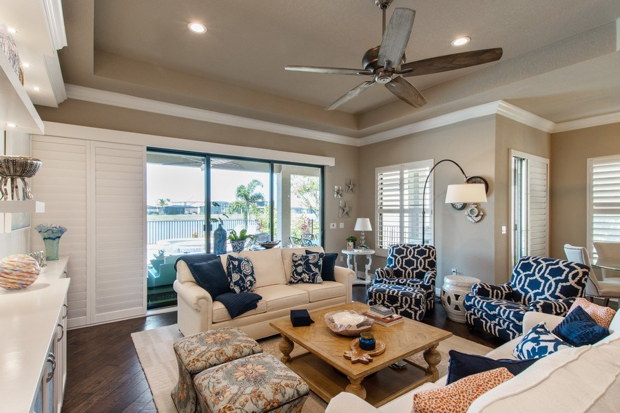Real Estate Photography - 2767 Cinnamon Bay Circle, Naples, FL, 34119 - Living Room
