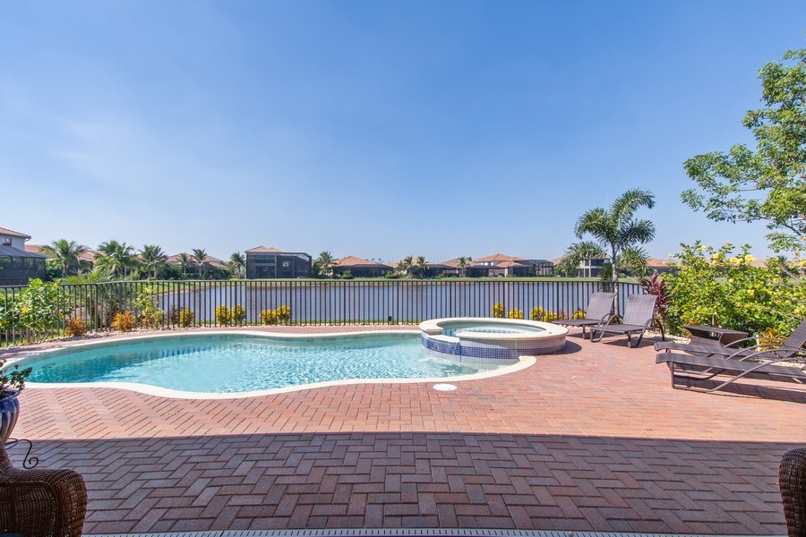 Real Estate Photography - 2767 Cinnamon Bay Circle, Naples, FL, 34119 - Pool