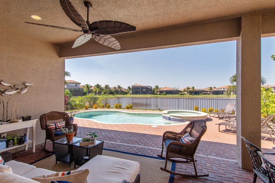 Real Estate Photography - 2767 Cinnamon Bay Circle, Naples, FL, 34119 - Patio