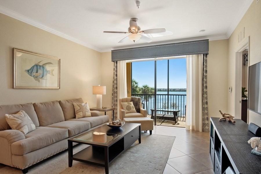 Real Estate Photography - 17921 Bonita National Blvd, #224, Bonita Springs, FL, 34135 - Living Room