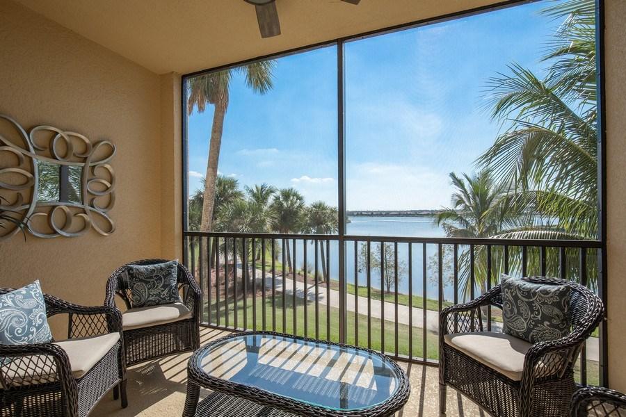 Real Estate Photography - 17921 Bonita National Blvd, #224, Bonita Springs, FL, 34135 - Lanai