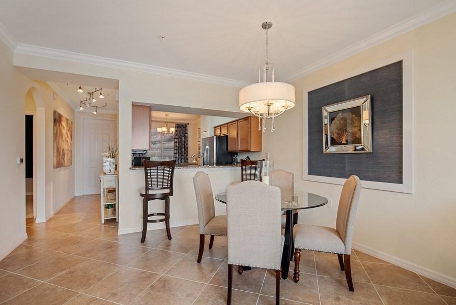 Real Estate Photography - 17921 Bonita National Blvd, #224, Bonita Springs, FL, 34135 - Kitchen / Dining Room