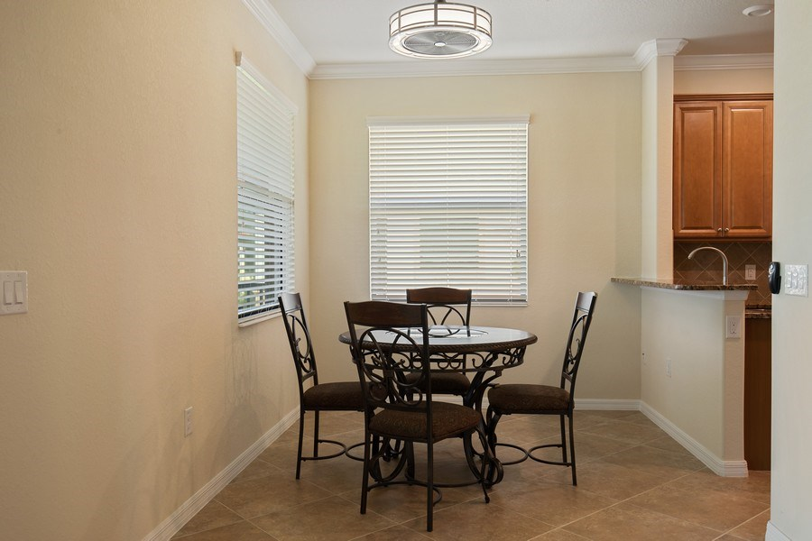 Real Estate Photography - 28030 Cookstown Ct, 2903, Bonita Springs, FL, 34135 - Dining Area