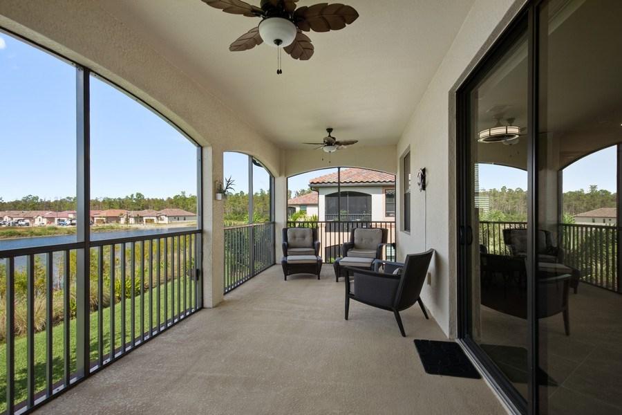 Real Estate Photography - 28030 Cookstown Ct, 2903, Bonita Springs, FL, 34135 - Lanai