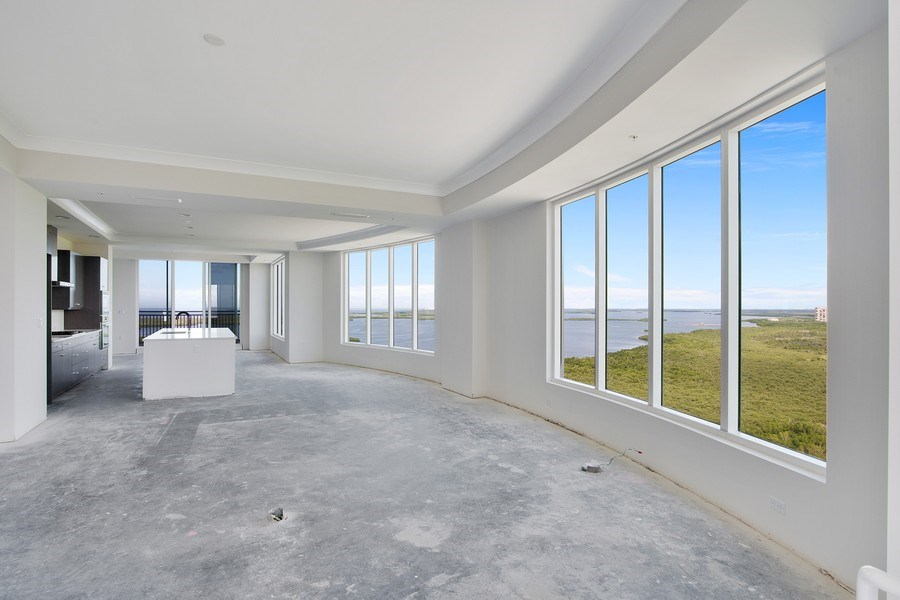 Real Estate Photography - 4971 Bonita Bay Boulevard Penthouse, Seaglass at Bonita Bay #2205, Bonita Springs, FL, 34134 - Living Room