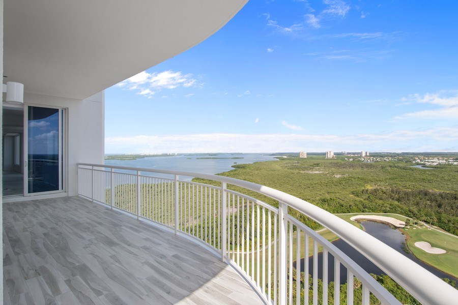 Real Estate Photography - 4971 Bonita Bay Boulevard Penthouse, Seaglass at Bonita Bay #2205, Bonita Springs, FL, 34134 - Balcony
