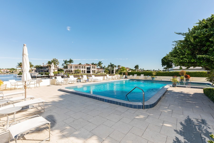 Real Estate Photography - 1900 Gulf Shore Blvd N #303, Naples, FL, 34102 - Pool