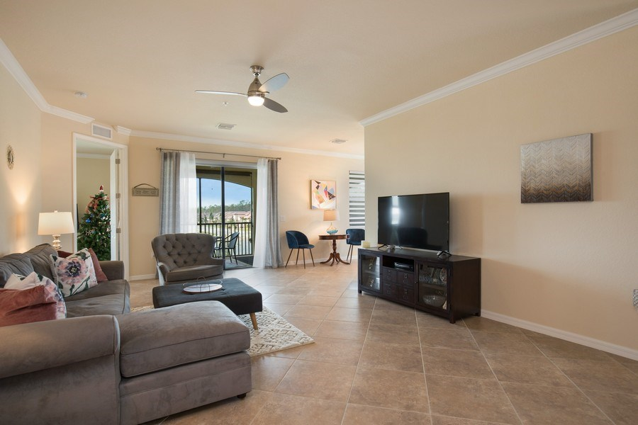 Real Estate Photography - 28010 Cookstown Ct, 3103, Bonita Springs, FL, 34135 - Family Room