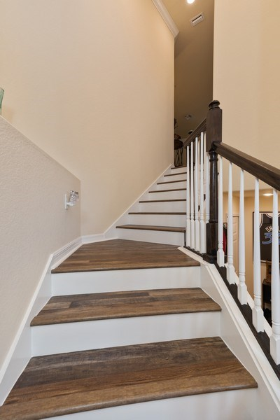 Real Estate Photography - 28010 Cookstown Ct, 3103, Bonita Springs, FL, 34135 - Staircase