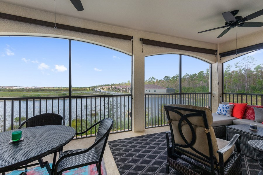 Real Estate Photography - 28010 Cookstown Ct, 3103, Bonita Springs, FL, 34135 - Lanai
