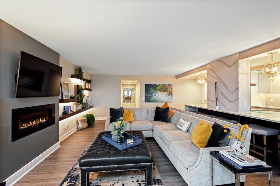 Real Estate Photography - 3003 Gulf Shore Blvd N,, Unit 103, Naples, FL, 34103 - Living Room