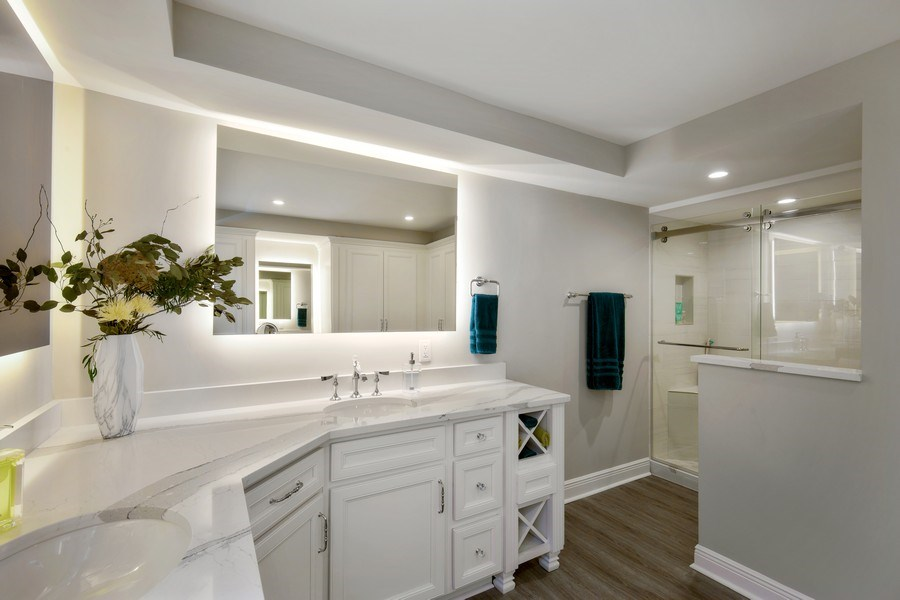 Real Estate Photography - 3003 Gulf Shore Blvd N,, Unit 103, Naples, FL, 34103 - Master Bathroom