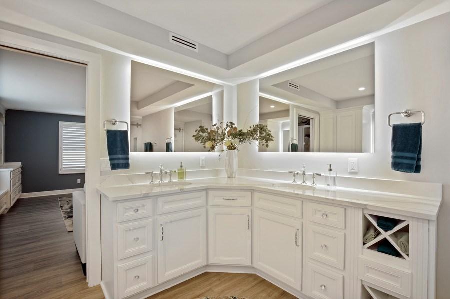 Real Estate Photography - 3003 Gulf Shore Blvd N,, Unit 103, Naples, FL, 34103 - Master Bathroom