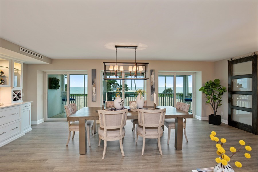 Real Estate Photography - 3003 Gulf Shore Blvd N,, Unit 103, Naples, FL, 34103 - Dining Room