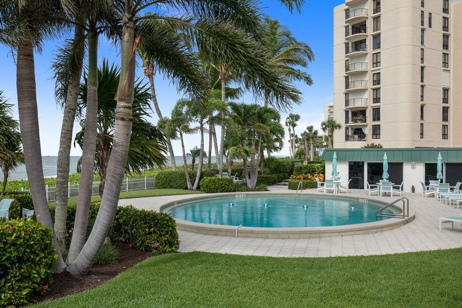 Real Estate Photography - 3003 Gulf Shore Blvd N,, Unit 103, Naples, FL, 34103 - Pool