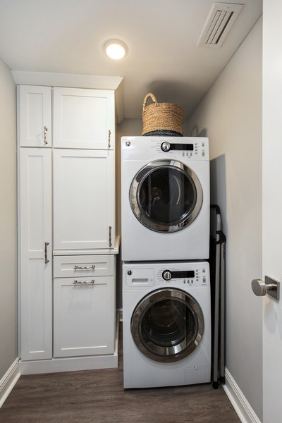 Real Estate Photography - 3003 Gulf Shore Blvd N,, Unit 103, Naples, FL, 34103 - Laundry Room