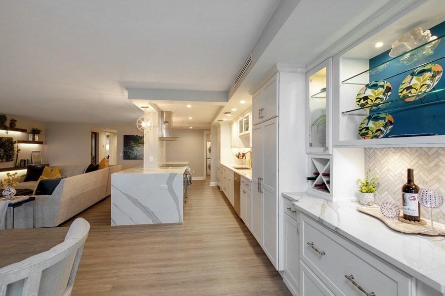 Real Estate Photography - 3003 Gulf Shore Blvd N,, Unit 103, Naples, FL, 34103 - Kitchen