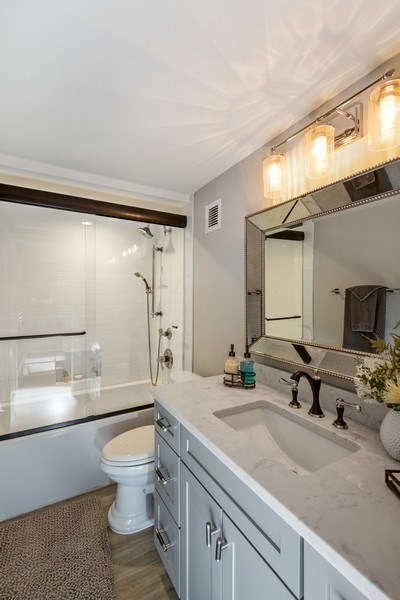 Real Estate Photography - 3003 Gulf Shore Blvd N,, Unit 103, Naples, FL, 34103 - 2nd Bathroom